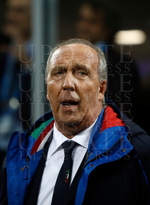 Soccer Football - 2018 World Cup Qualifications - Europe - Italy vs Sweden - San Siro, Milan, Italy - November 13, 2017 <br /> Italy's coach Gian Piero Ventura waits for the start of the FIFA World Cup 2018 qualification football match between Italy and Sweden at the San Siro Stadium in Milan on November 13, 2017.<br /> UPDATE IMAGES PRESS/Isabella Bonotto