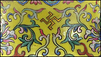 BNPS.co.uk (01202 558833)Pic EastbourneAuctions/BNPS<br /> <br /> Good luck swastika is part of the colourful design.<br /> <br /> Sold for &pound;87,000 - Cracking price paid for broken vase pensioner was taking to a charity shop. <br /> <br /> A pensioner who was about to take a broken vase to charity shop before a sharp eyed auctioneer intervened is celebrating today after it sold for &pound;86,000.<br /> <br /> Anne Beck had inherited the cracked and chipped 12ins tall item from her grandfather who was an antique restorer but he never got round to repairing it.<br /> <br /> The 83-year-old kept it in her garage for years until she put it on the back seat of her car to take it to a charity shop.<br /> <br /> On the way she called in to an auction house valuation day and was persuaded to sell it instead.