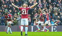 Aston Villa's Tammy Abraham celebrates scoring the opening goal <br /> <br /> Photographer Alex Dodd/CameraSport<br /> <br /> The EFL Sky Bet Championship - Aston Villa v Leeds United - Sunday 23rd December 2018 - Villa Park - Birmingham<br /> <br /> World Copyright &copy; 2018 CameraSport. All rights reserved. 43 Linden Ave. Countesthorpe. Leicester. England. LE8 5PG - Tel: +44 (0) 116 277 4147 - admin@camerasport.com - www.camerasport.com