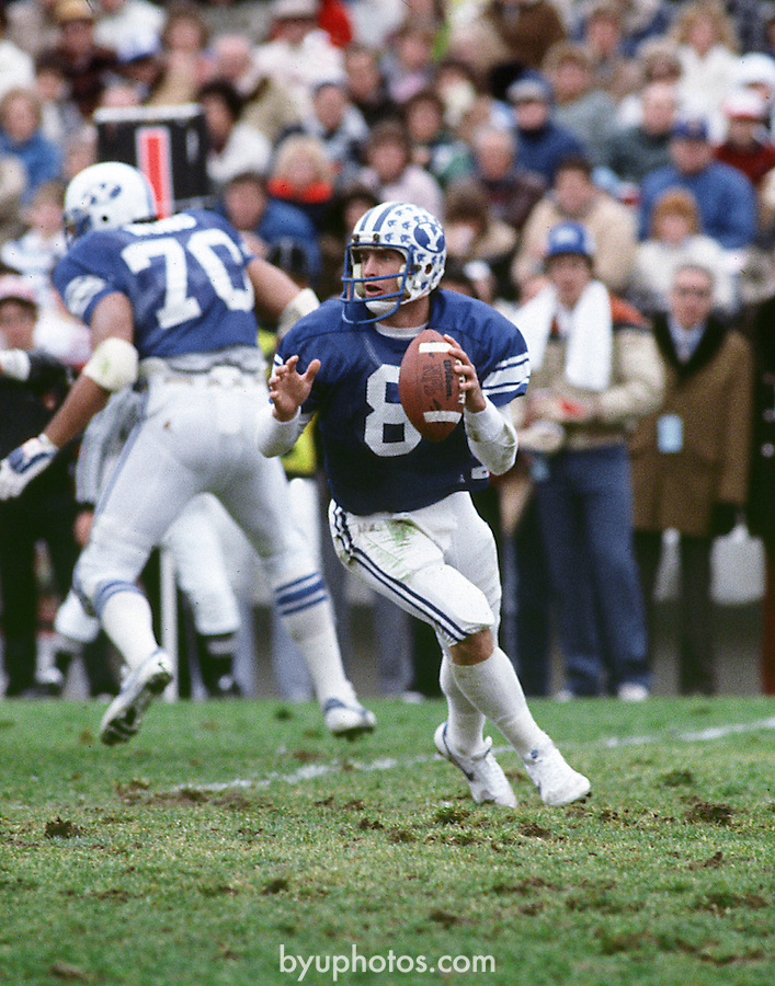 Steve Young Drop Back..8 Steve Young..Photo by: Mark Philbrick/BYU..Copyright BYU PHOTO 2008.All Rights Reserved