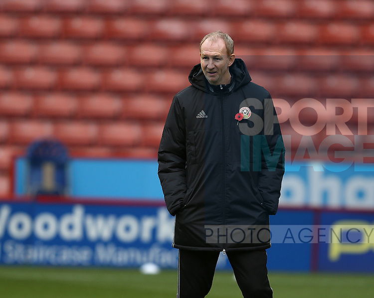 Alan Knill Assistant manager during the Emirates FA Cup Round One match at Bramall Lane Stadium, Sheffield. Picture date: November 6th, 2016. Pic Simon Bellis/Sportimage