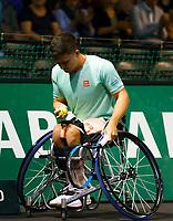 Rotterdam, The Netherlands, 15 Februari 2020, ABNAMRO World Tennis Tournament, Ahoy, <br /> Wheelchair: Final. Gordon Reid (GBR).<br /> Photo: www.tennisimages.com