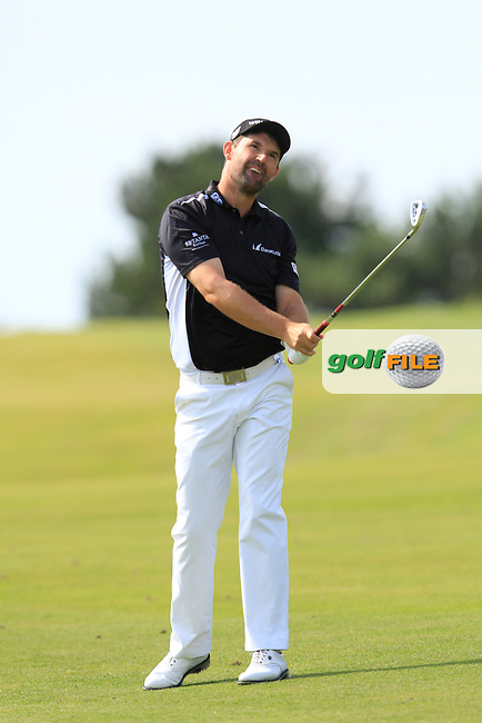 Padraig Harrington (IRL) on the 4th fairway during Round 1 of the 2015 KLM Open at the Kennemer Golf &amp; Country Club in The Netherlands on 10/09/15.<br /> Picture: Thos Caffrey | Golffile