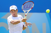 Dusan Lajovic (Serbia) during his match versus Feliciano Lopez (Spain) - Aegon Tennis Championships - 10/06/14 - MANDATORY CREDIT: Rob Newell - Self billing applies where appropriate - 07808 022 631 - robnew1168@aol.com - NO UNPAID USE - BACS details for payment: Rob Newell A/C 11891604 Sort Code 16-60-51