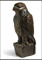 BNPS.co.uk (01202) 558833<br /> Picture: Bonhams/BNPS<br /> <br /> A lead statue of a bird which turned out to be a worthless dud in the Hollywood film The Maltese Falcon has sold for a whopping &pound;2.5 million.<br /> <br /> The 12-inch falcon was the object of desire of Humphrey Bogart's private detective character, who wrongly believed it to be a priceless, jewel-encrusted gold antique.<br /> <br /> Experts had expected it to sell for &pound;1 million but it was snapped up by an anonymous bidder for &pound;2.5 million at the Bonhams sale in New York.
