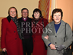 Archdeacon Jim Carroll with Bernadette and Una Crosby and Anna McGeough after his last mass in Our Lady of Lourdes church. Photo:Colin Bell/pressphotos.ie