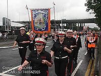 Prince William's Young Defenders Flute Band, Linwood and Johnstone marching with Govan District returning from the County Grand Orange Lodge of Glasgow Parade 2012 which took place in Glasgow on 7.7.12..