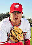 28 February 2010: Washington Nationals relief pitcher Victor Garate poses for his Spring Training photo at Space Coast Stadium in Viera, Florida. Mandatory Credit: Ed Wolfstein Photo