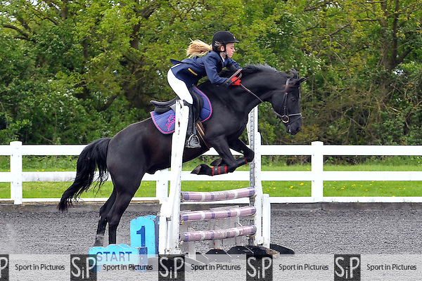Class 3. 80cm. Cashjumping Show Juniors. Norton Heath Equestrian Centre. Essex. 27/04/2014. MANDATORY Credit Ellie Ingram/Sportinpictures - NO UNAUTHORISED USE - 07837 394578