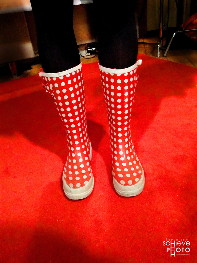 The red rubber boots of Liz Schrum.
