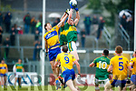 Jack Barry Kerry in action against Gary Brennan Clare in the Munster Senior Football Championship Semi Final in Ennis on Sunday.