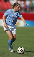 OCT 2, 2005: College Park, MD, USA:  UNC Tarheel forward #20 Heather O'Reilly brings the ball upfield while playing the  Maryland Terrapins at Ludwig Field.  UNC won, 4-0. Mandatory Credit: Photo By Brad Smith (c) Copyright 2005 Brad Smith
