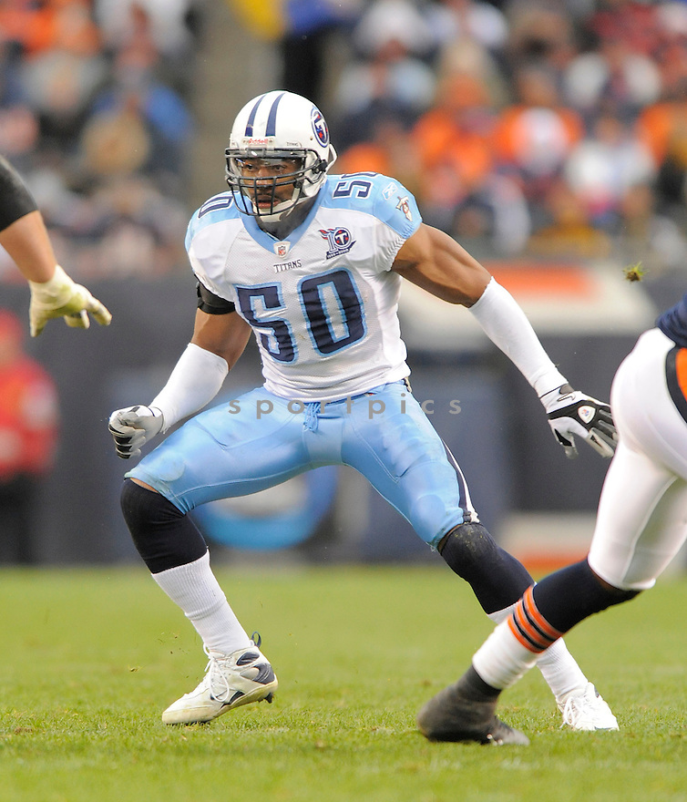 DAVID THORNTON, of the Tennessee Titans in action against the Chicago Bears, during the Titans game  in Chicago, IL  on Novmeber 7, 2008..Titans win 21-14