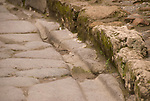 Marks of old wheels in Pompeji, Italy