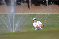 Richard Sterne (RSA) chips from a bunker at the 17th green during Friday's Round 2 of the 2018 Turkish Airlines Open hosted by Regnum Carya Golf &amp; Spa Resort, Antalya, Turkey. 2nd November 2018.<br /> Picture: Eoin Clarke | Golffile<br /> <br /> <br /> All photos usage must carry mandatory copyright credit (&copy; Golffile | Eoin Clarke)