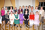 REUNION: Former pupils from Loreto NS who held a class reunion in the Malton Hotel, Killarney on Saturday night front l-r: Mary Hallissey Kenmare, Maura Sugrue Dingle, Eilish Ashe Annascaul, Sr Camila Dublin, Kathleen Randles Killarney, Anne Leahy Killorglin and Mary O'Shea Currow. Back l-r: Noreen McCarthy Boston, Nora Mae Healy Chicago, Maria Riordan Firies, Careen McGuire Kells Meath, Bernie O'Shea Millstreet, Bridget O'Shea Cloundrohid, Maura Murray Killarney, Eileen O'Donoghue Killarney, Josephine McAuliffe Killarney, Margaret Healy Wexford and Anne O'Donovan Dublin.