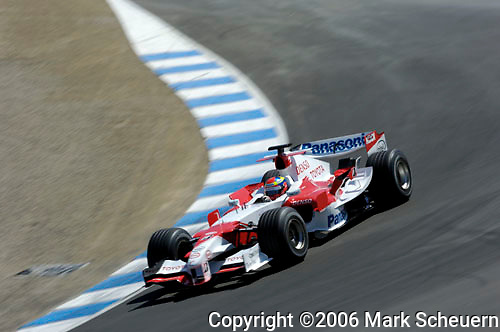 33rd Rolex Monterey Historic Races, 2006<br /> <br /> Toyota Formula 1 test driver Ricardo Zonta in the Corkscrew at the Rolex Monterey Historic Automobile Races, 2006