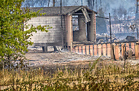 A huge fire has completely destroyed the old abandoned hospital complex at Fort Chaffee in Fort Smith AR.<br /> <br /> The fire  burned over 80 acres and over 100 buildings in the historic Chaffee Hospital area of Fort Chaffee.