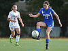Kellenberg No. 12 Kerianne Scorce settles a ball near midfield during the NSCHSAA varsity girls' soccer Class AA championship against St. Anthony's at St. John the Baptist High School on Thursday, October 29, 2015. St. Anthony's won by a score of 3-0.<br /> <br /> James Escher