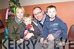 PRESENTS: The Hickey family from Ardfert who got their wishs on Friday evening from Santa  Jack, Mairead, John and Benn Hickey.