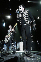 Gerard Way, Mikey Way and My Chemical Romance perform at the Forum