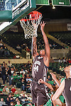 Lehigh Mountain Hawks forward Conroy Baltimore (44) in action during the game between the Lehigh Mountain Hawks and the North Texas Mean Green at the Super Pit arena in Denton, Texas. Lehigh defeats UNT 90 to 75...