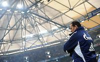 FUSSBALL   1. BUNDESLIGA   SAISON 2011/2012   22. SPIELTAG FC Schalke 04 - VfL Wolfsburg         19.02.2012 Trainer Huub Stevens (FC Schalke 04)