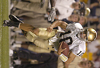 3 September 2005:  Brady Quinn...Notre Dame defeated Pittsburgh 42-21 September 3, 2005 at Heinz Field in Pittsburgh, PA..