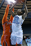 17 November 2015: North Carolina's N'Dea Bryant (22) and Florida A&M's Olivia Antilla (21). The University of North Carolina Tar Heels hosted the Florida A&M University Rattlers at Carmichael Arena in Chapel Hill, North Carolina in a 2015-16 NCAA Division I Women's Basketball game. UNC won the game 94-58.