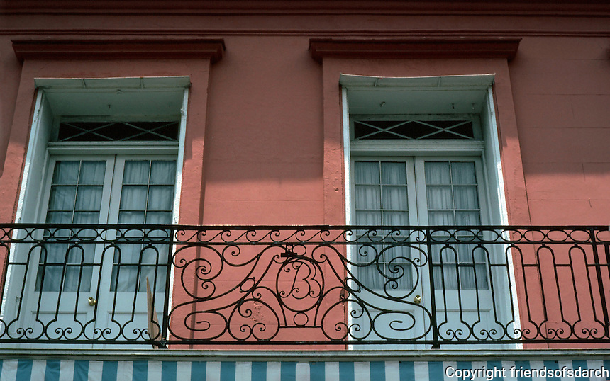 New Orleans:  617 Chartres St.  Spanish wrought iron, 1795.