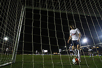 Eric Dier of Tottenham Hotspur picks the ball out of the net after Padraig Amond of Newport County scores his sides first goal of the match during the Fly Emirates FA Cup Fourth Round match between Newport County and Tottenham Hotspur at Rodney Parade, Newport, Wales, UK. Saturday 27 January 2018