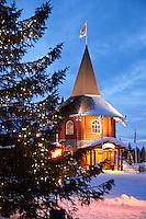 Christmas in Santa Claus Village, Rovaniemi, Lapland, Finland.