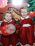 Aimee and Shauna Rice pictured at Santa's grotto at the Drogheda Town Centre. Photo: Colin Bell/pressphotos.ie