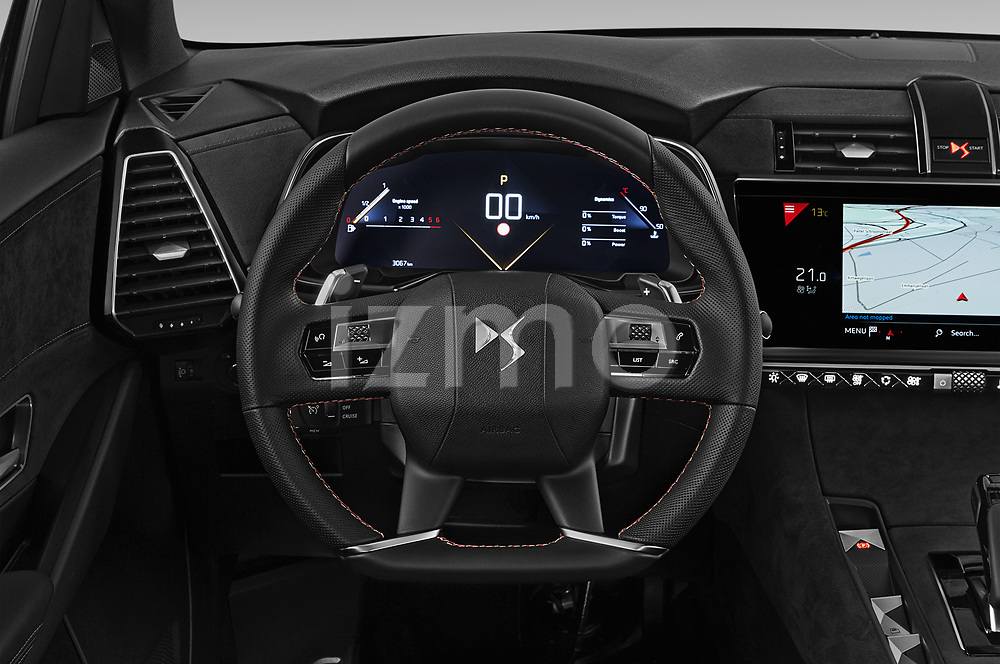 Car pictures of steering wheel view of a 2019 Ds DS-7-Crossback Performance-Line 5 Door SUV Steering Wheel