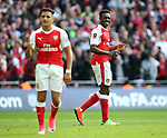 Arsenal's Danny Welbeck in action during the FA Cup Semi Final match at Wembley Stadium, London. Picture date: April 23rd, 2017. Pic credit should read: David Klein/Sportimage