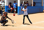 ORGANIZED GIRL SOFTEBALL GAME <br />