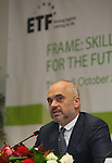 - ALBANIA - 06 October 2014 – Skills for the Future: South Eastern and Turkey –  Edi Rama, Prime Minister of Albania. PHOTO: EUP-Images - Gent SHKULLAKU / Light Studio Agency (LSA)