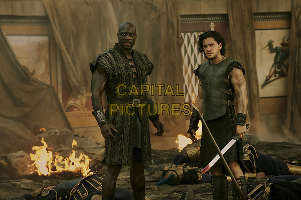 Adewele Akinnouye-Agbaje, Kit Harington<br /> in Pompeii (2014) <br /> *Filmstill - Editorial Use Only*<br /> CAP/NFS<br /> Image supplied by Capital Pictures