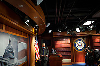 United States Senate Minority Leader Chuck Schumer (Democrat of New York), arrives for a press conference at the US Capitol in Washington, DC., Tuesday, September 15, 2020. <br /> Credit: Rod Lamkey / CNP /MediaPunch