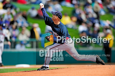 3 March 2010: Atlanta Braves' pitcher Tim Hudson in action during a Grapefruit League game against the New York Mets at Champion Stadium in the ESPN Wide World of Sports Complex in Orlando, Florida. The Braves defeated the Mets 9-5 in the Spring Training matchup. Mandatory Credit: Ed Wolfstein Photo