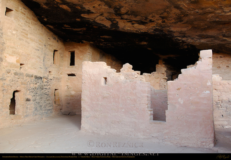 Interior Room Detail, Spruce Tree House Cliff Dwelling, Anasazi Hisatsinom Ancestral Pueblo Site, Chapin Mesa, Mesa Verde National Park, Colorado