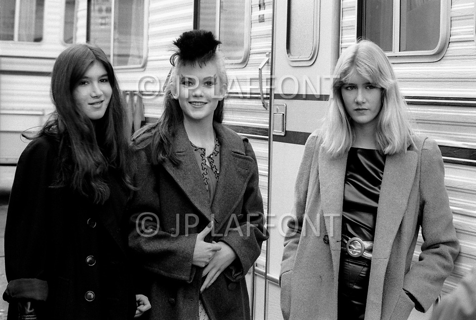 Vancouver, Canada, March, 1980 - On the set of the film Ladies And Gentlemen, The Fabulous Stains. The film was directed by Lou Adler and starred Diane Lane, Laura Dern, Marin Kanter, and Ray Winstone.