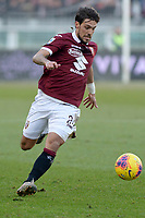 12th January 2020; Olympic Grande Torino Stadium, Turin, Piedmont, Italy; Serie A Football, Torino versus Bologna; Simone Verdi of Torino FC on the ball - Editorial Use