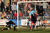 Paul Hodges misses a great opportunity to score for Woking as his shot goes just wide of the Dartford post during Dartford vs Woking, Vanarama National League South Football at Princes Park on 23rd February 2019