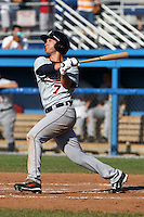 Connecticut Tigers outfielder Matt Mansilla (7) during a double header vs. the Batavia Muckdogs at Dwyer Stadium in Batavia, New York July 10, 2010.  Connecticut dropped the first game 3-5 then defeated Batavia 8-1 in the night cap.  Photo By Mike Janes/Four Seam Images