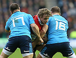 Jonny Gray of Scotland squeezed between Alberto De Marchi of Italy and Lorenzo Cittadini of Italy - RBS 6Nations 2015 - Scotland  vs Italy - BT Murrayfield Stadium - Edinburgh - Scotland - 28th February 2015 - Picture Simon Bellis/Sportimage