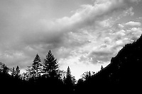 Morning Sky,  Yosemite NP    35mm image on Ilford Delta 100 film