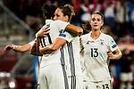 25.07.2017, Stadion Galgenwaard, Utrecht, NLD, Tilburg, UEFA Women's Euro 2017, Russland (RUS) vs Deutschland (GER), <br /> <br /> im Bild | picture shows<br /> Babett Peter (Deutschland #5) | (Germany #5) jubelt mit Dzsenifer Marozsan (Deutschland #10) | (Germany #10) ueber Tor, <br /> <br /> Foto © nordphoto / Rauch