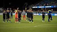 SAN JOSE,  - SEPTEMBER 1: San Jose Earthquakes players during a game between Orlando City SC and San Jose Earthquakes at Avaya Stadium on September 1, 2019 in San Jose, .