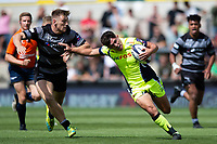 Kieran Wilkinson of Sale Sharks. Premiership Rugby 7s (Day 2) on July 28, 2018 at Franklin's Gardens in Northampton, England. Photo by: Patrick Khachfe / Onside Images